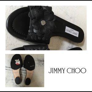 New Jimmy Choo Flower Decal Sandals